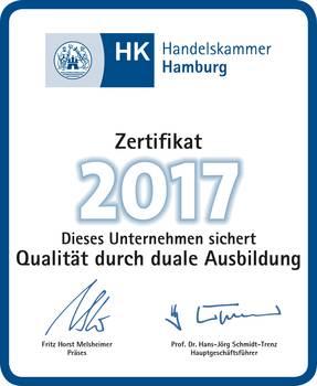Handelskammer Zertifikat 2017