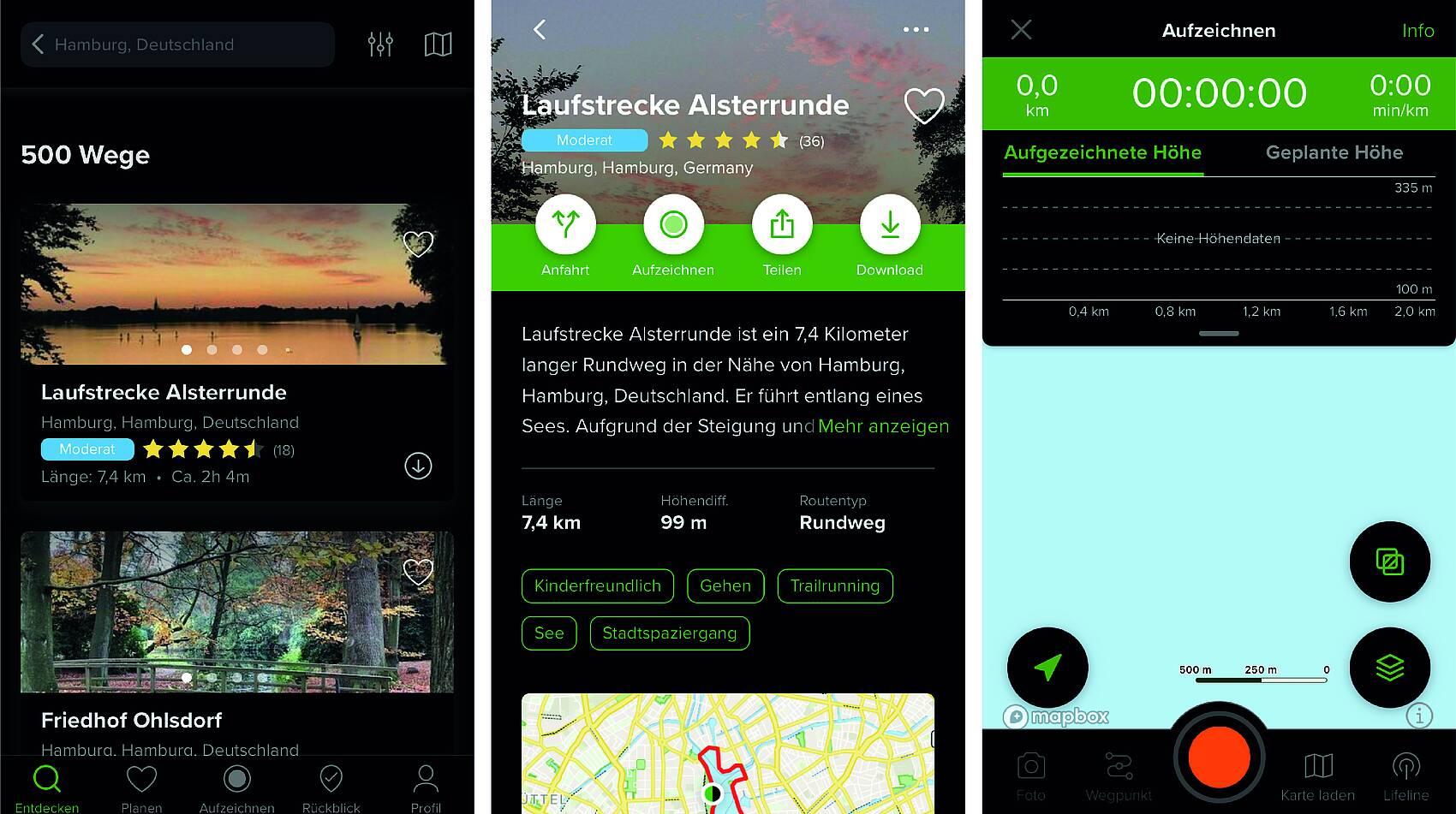 Wandern App AllTrails
