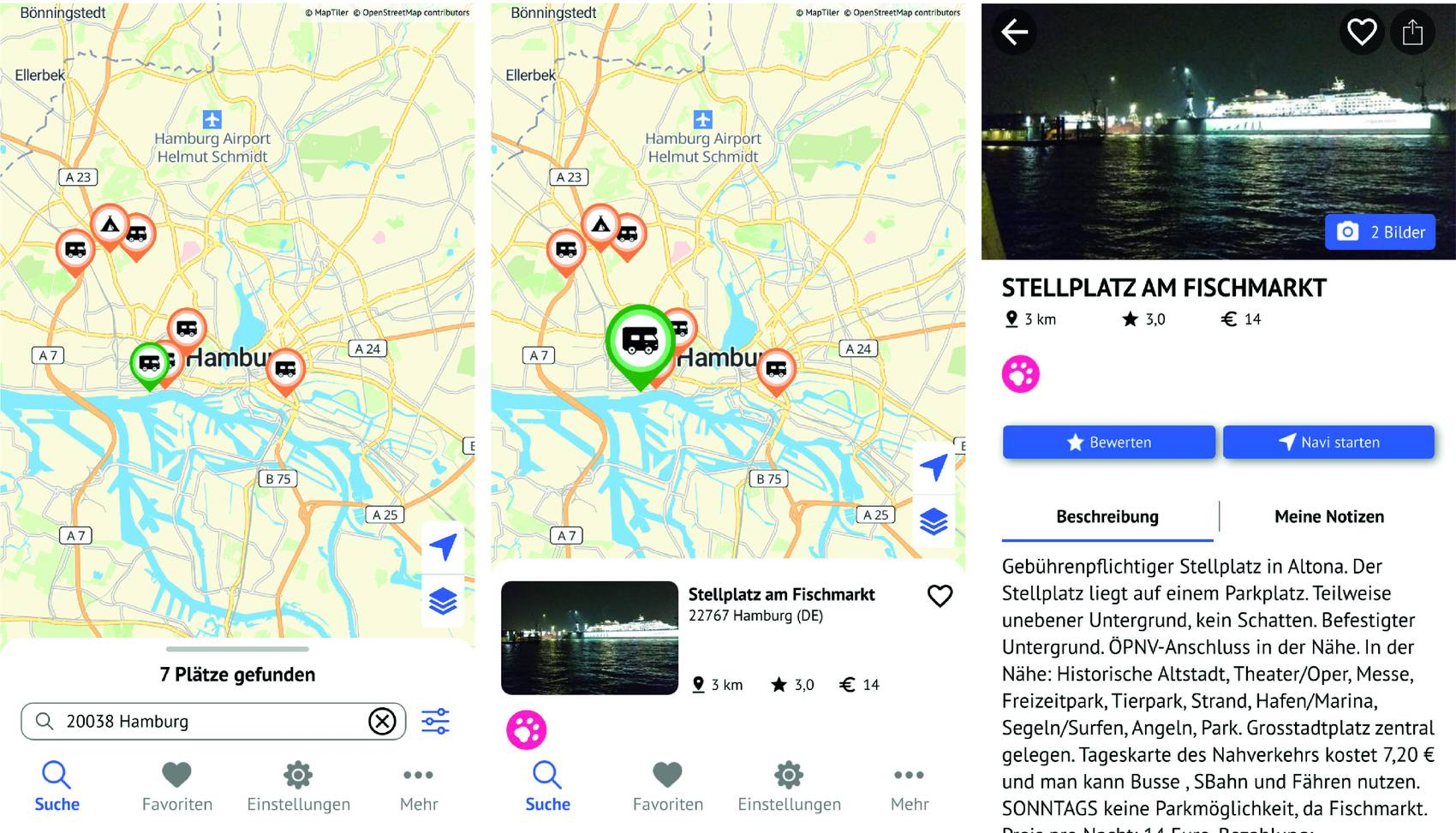 Pro Mobil Stellplatz App