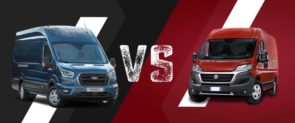 Artikelbild: Ford Transit vs Fiat Ducato