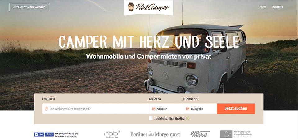 PaulCamper ist ein Vermietungsportal für Wohnmobile.