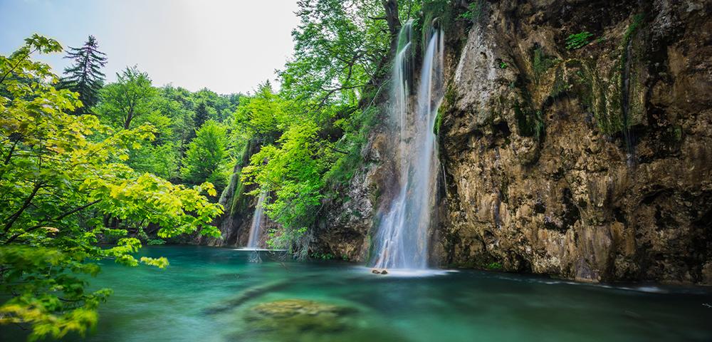 Wasserfall in Kroatien.