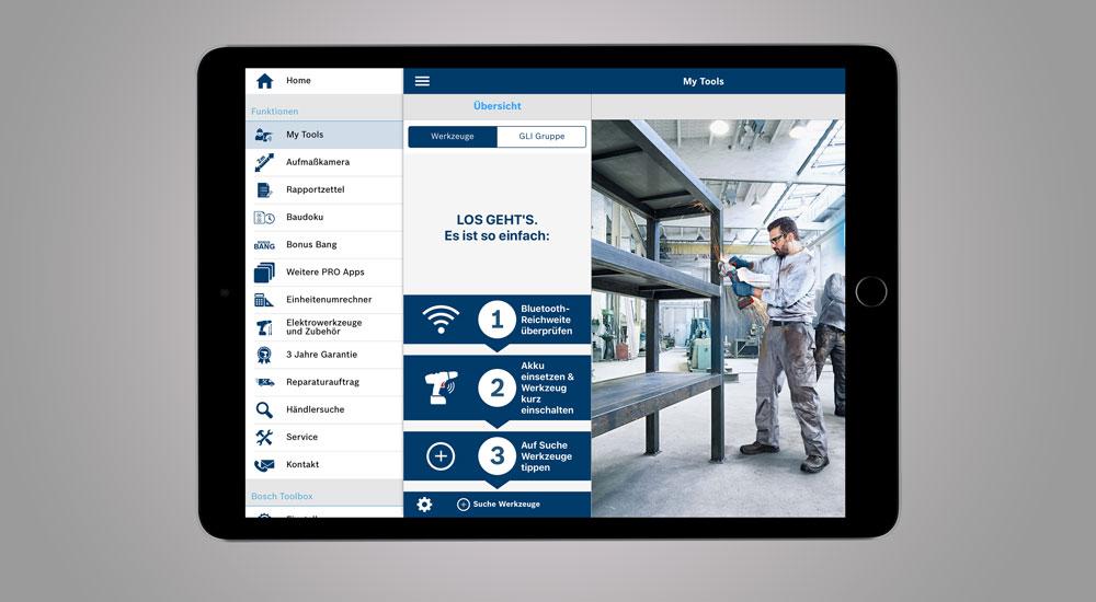 Handwerker-App von Bosch