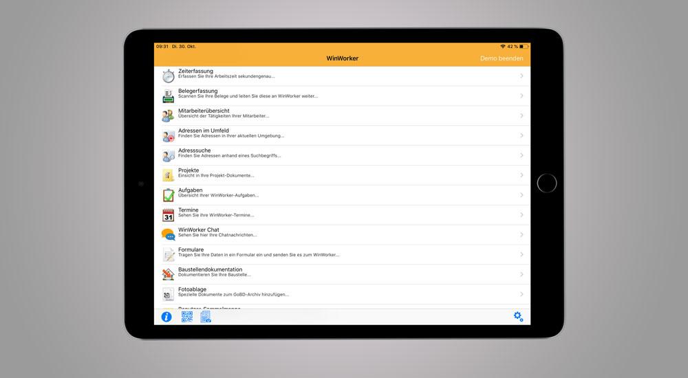 Handwerker-App WinWorker