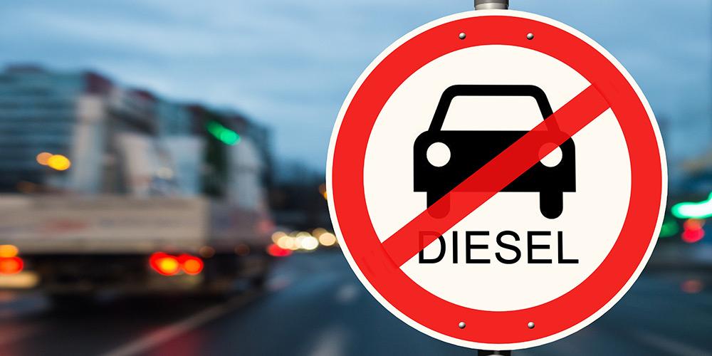 Verbotsschild Diesel