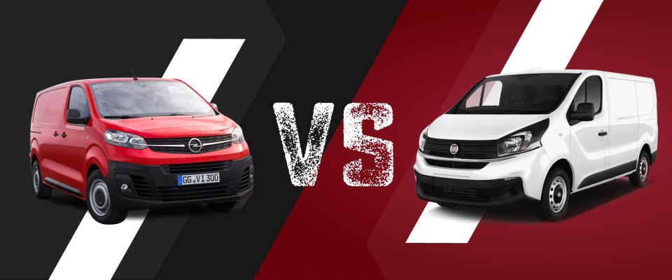Opel Vivaro links vs Fiat Talento rechts
