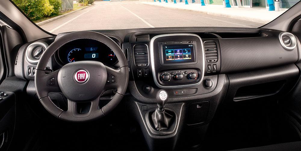 Innenansicht des Fiat Talento mit Konsole